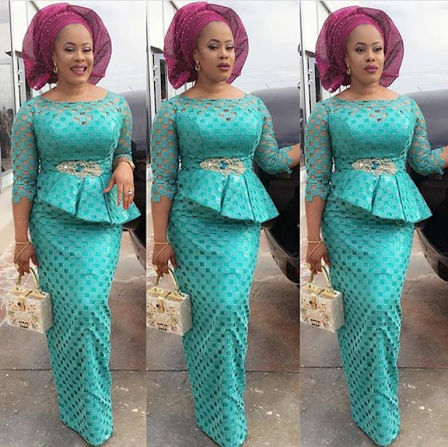 Check out This Beautiful Lace Long Gown Styles - DeZango