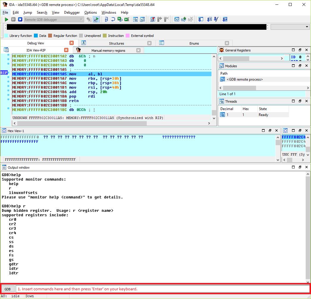 Loading Kernel Symbols Vmm Debugging Using Vmwares Gdb Stub And