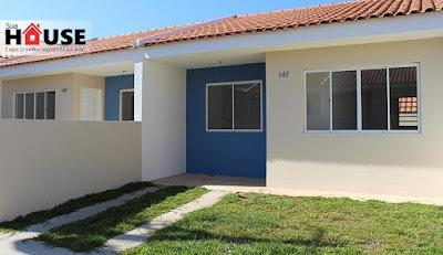 Casa de 109m², 03 dormitórios, em condomínio - Fazenda Rio Grande