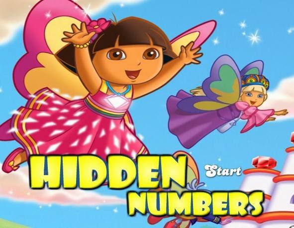 لعبة دورا البحث عن الارقام المخفية HiDDEN NUMBERS - العاب دورا اون لاين