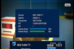 Cara tracking satelit asiasat 5 Cband - 100.5E