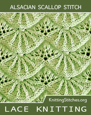 Alsacian Scallops. Best lace knitting 2018. Written instructions and video tutorial are included for your convenience. - KnittingStitches.org