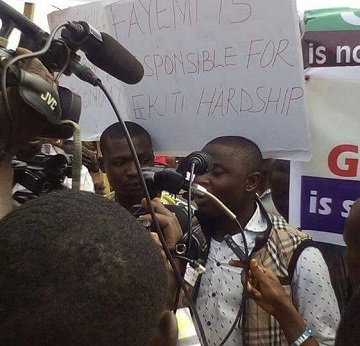 Pro-Fayose Protest Against Striking Ekiti Workers Ongoing In Ado-Ekiti, See Photos