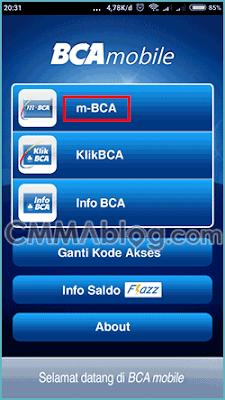cara pembayaran shopee dengan transfer bank (m-banking BCA)