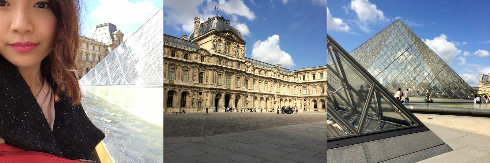 Louvre a zilion turistů   držející ve vzduchu   skleněné pyramidy 0cdec23cd7