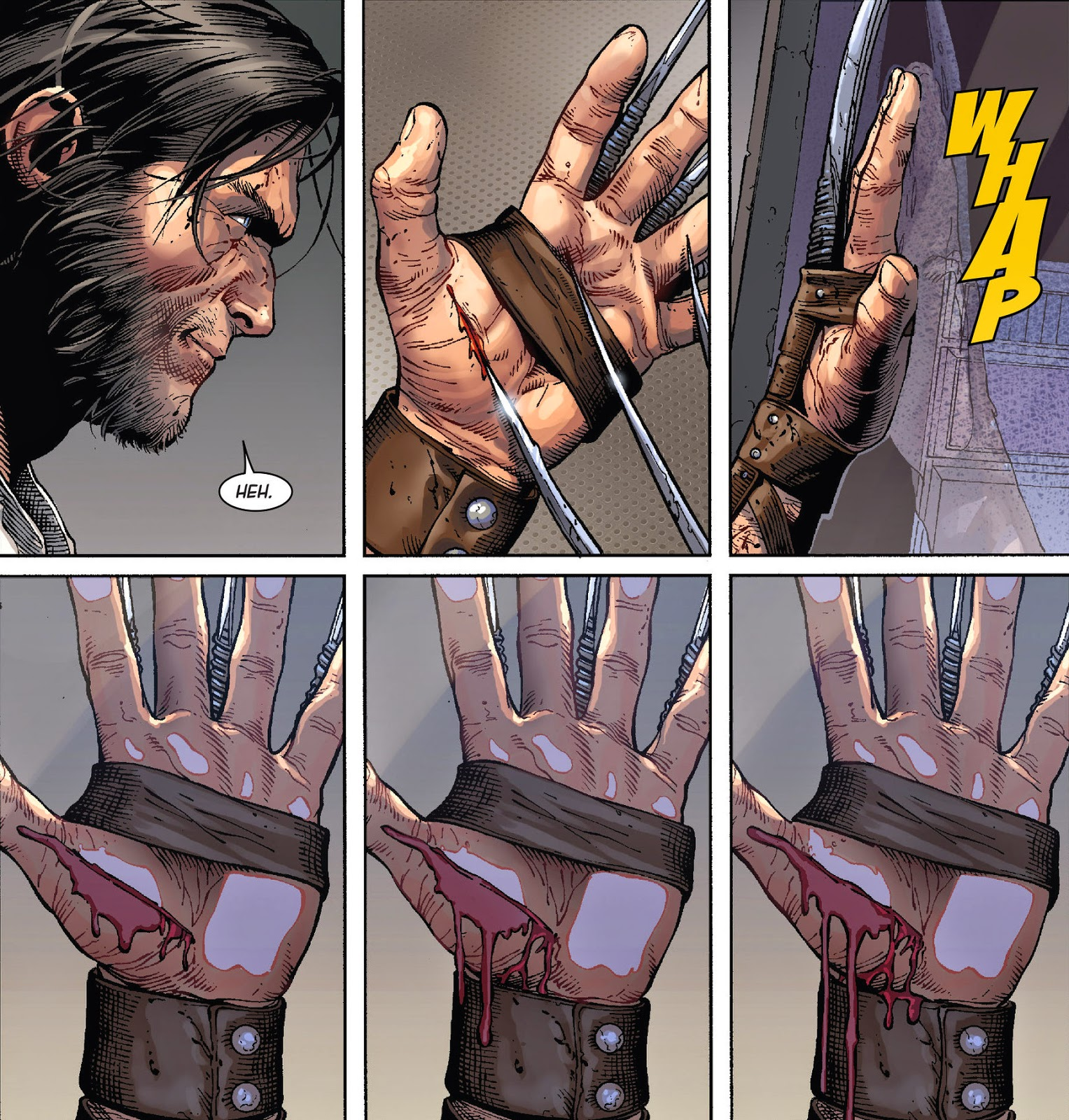 Marvels Death of Wolverine 4 interior art by Steve McNiven