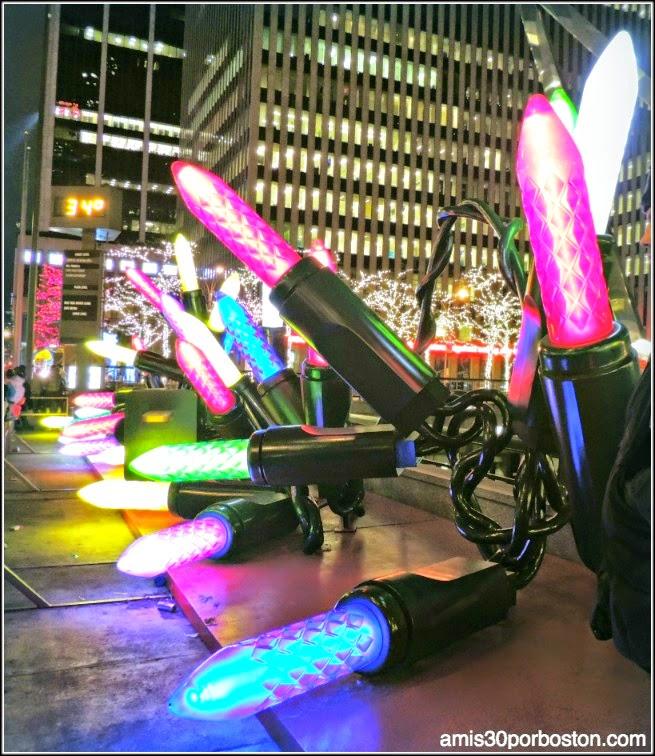 Luces Gigantes de Navidad en la Sexta Avenida