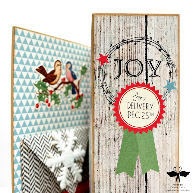 Build A Wreath Star Stamp Embellishment by Dana Tatar for Paper Wings Productions