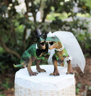 Cool Dinosaur Wedding Cake Topper