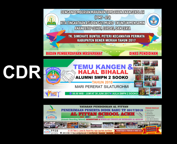 banner ppdb free download background cdr vector