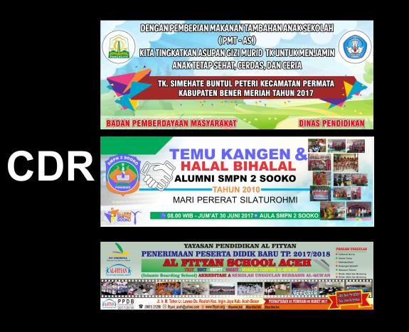 Banner Spanduk Sekolah Cdr