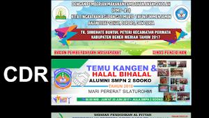 Template Banner Spanduk Sekolah Cdr