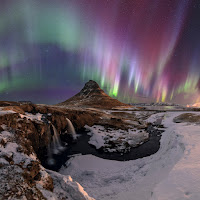 Aurora over Snaefellsnes Peninsula