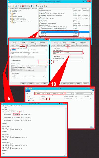 Configuración de script de inicio de sesión.