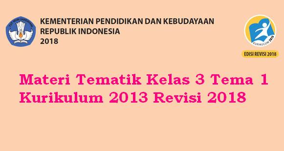 Materi Tematik Kelas 3 Tema 1 Kurikulum 2013 Revisi 2018