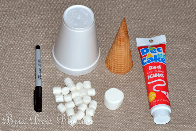 Sugar Cone Santa Hats With Smart And Final Brie Brie Blooms