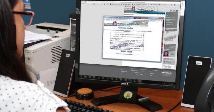 RENIEC - CONSULTA EN LINEA: Duplicado virtual del DNI cuesta menos y toma menor tiempo - www.reniec.gob.pe