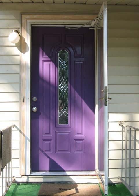 Exquisite Front Entry Doors At Home Depot Fiberglass: Ansley Designs: Purple Front Doors