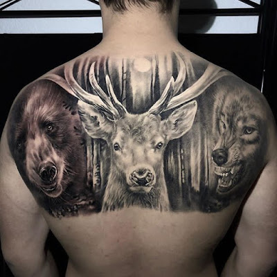 bear tattoo for shoulder