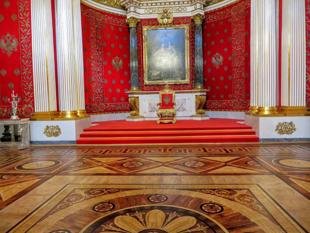 Throne room at the Hermitage in St. Petersburg, Russia