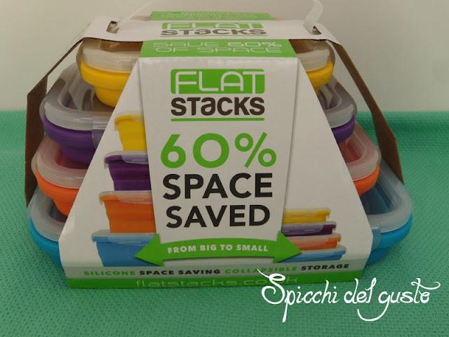 Flat stacks contenitori per alimenti pieghevoli