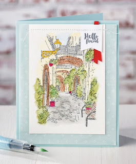 Stampin' Up! Mediterranean Moments stamp set + Watercolor Pencils from 2017 Occasions Catalog #stampinup