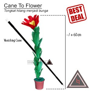 Jual alat sulap cane to flower