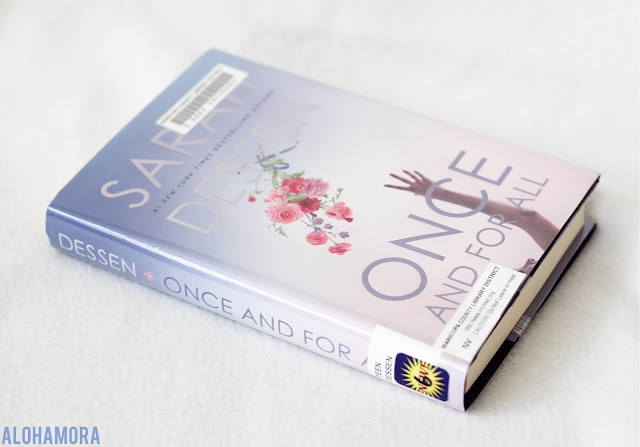Once and For All by Sarah Dessen gets 3 out of 5 stars in this contemporary lit book review.  romance, school violence, high school, books for girls, single mother, wedding planner. Alohamora Open a Book alohamoraopenabook www.alohamoraopenabook.blogspot.com