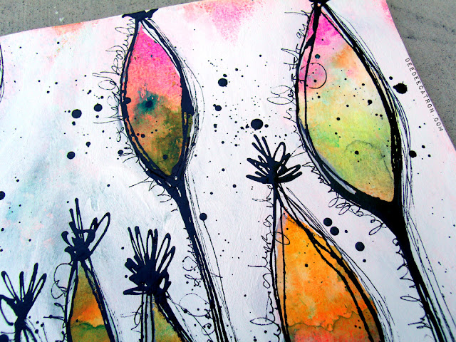 By Deedee Catron Art Journaling Pod Forest