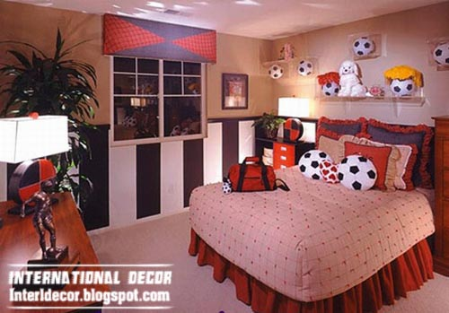 Cool Sports Kids Bedroom Themes Ideas Soccer, Cool Boys Room Themes