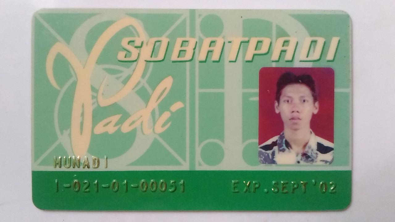 Kartu Anggota SOBAT PADI FANS CLUB