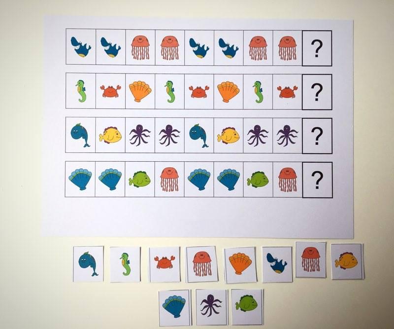Ćwiczenia sekwencji wzrokowej, ćwiczenia rytmiczne, które usprawniają percepcje wzrokową, myślenie logiczne i wspierają rozwój mowy dziecka