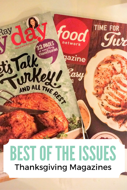 Roundup of the best Thanksgiving recipes from this year's food magazines, and my menu!