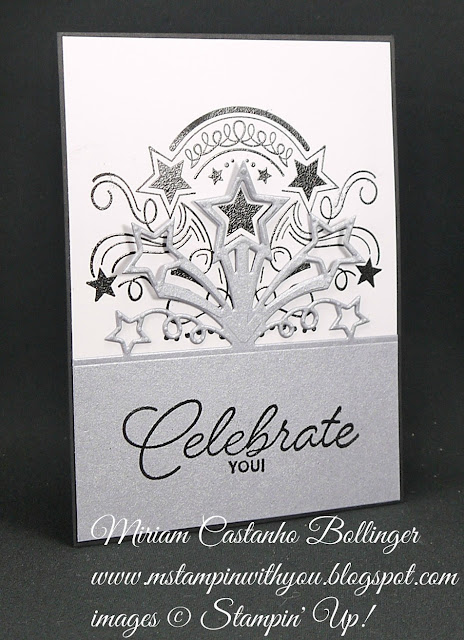 Miriam Castanho-Bollinger, #mstampinwithyou, stampin up, demonstrator, dsc, birthday card, birthday blast stamp set, star blast edgelits, heat embossing, big shot, su