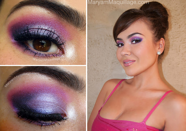 Makeup for light pink dress