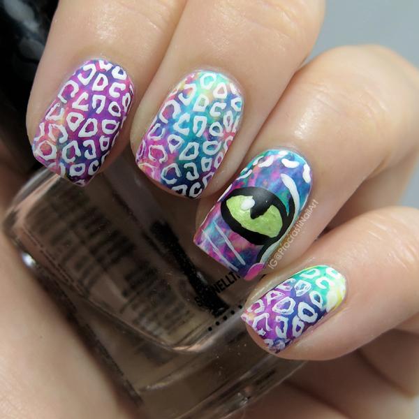 Rainbow Leopard Mani