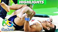 Watch Rio Olympics 2016 French Gymnastic Player Broke His Leg – Double Fracture Live Full Video HD Watch Online Free Download