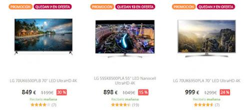 Excelentes ofertas de 8 TVs de gran tamaño en PcComponentes