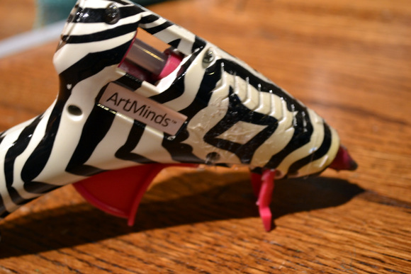 Hot Glue Gun Zebra Pattern