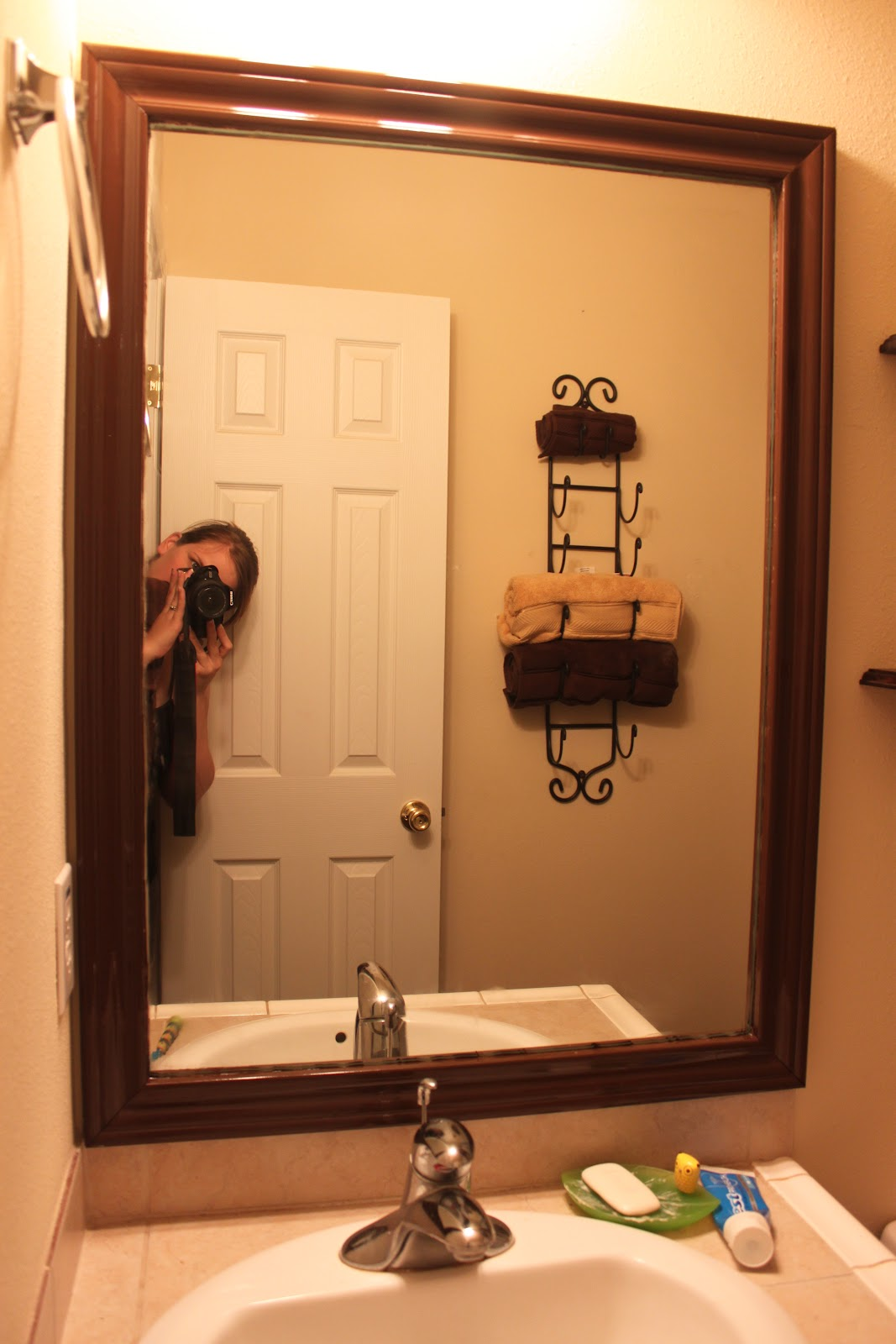 Framed Bathroom Mirrors Ideas: Moments Of Sanity In My Madhouse: Bathroom Mirror Frame