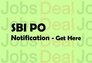 SBI PO Notification 2017