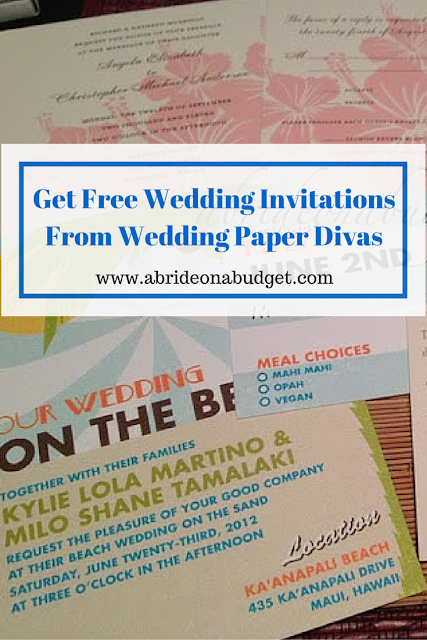 Need help deciding on your wedding invitations? Find out how to get free wedding invitations at www.abrideonabudget.com. These can help you decide on style and wording.
