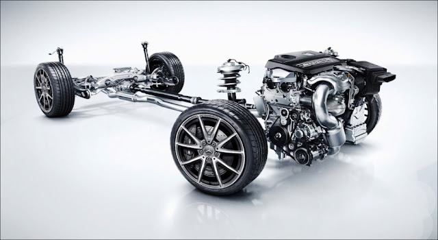 Khung gầm Mercedes AMG A45 4MATIC 2019 thiết kế khỏe khoắn mạnh mẽ
