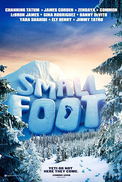 Smallfoot 2018 movie poster Channing Tatum James Corden