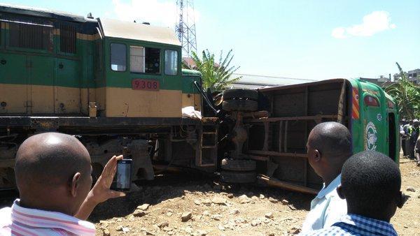 Train Hits Passenger Bus Near Nairobi