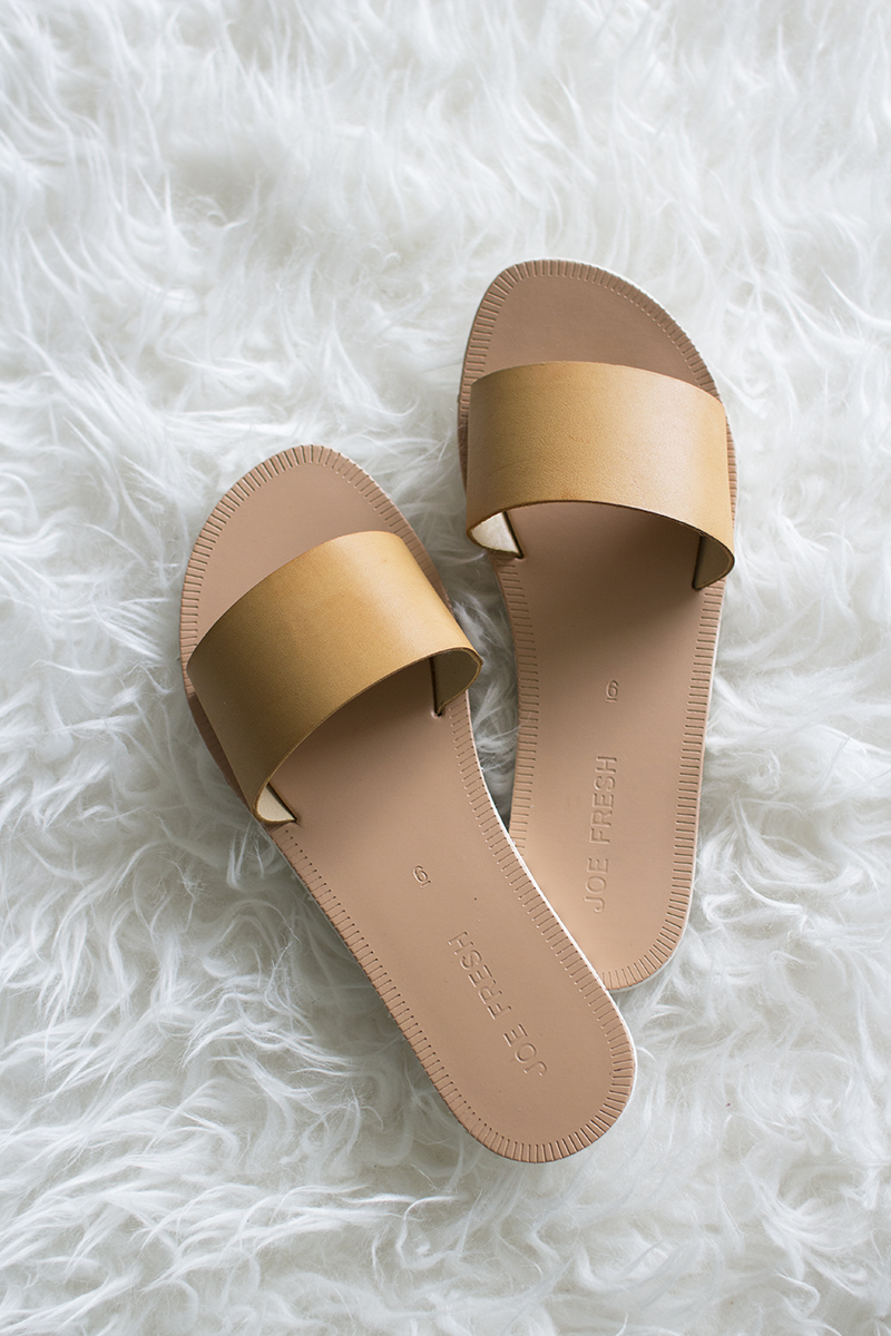 Slip on sandals for summer