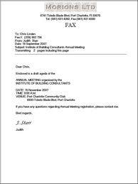 Best Sample Fax Letter