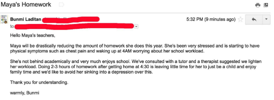 Nigerian mom sends email telling teachers her daughter is never going to do anymore homework and why