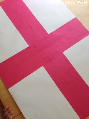 Collage England flag craft for children